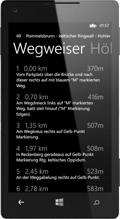Wegweiser. Die BikeGuide App für WindowsPhone.