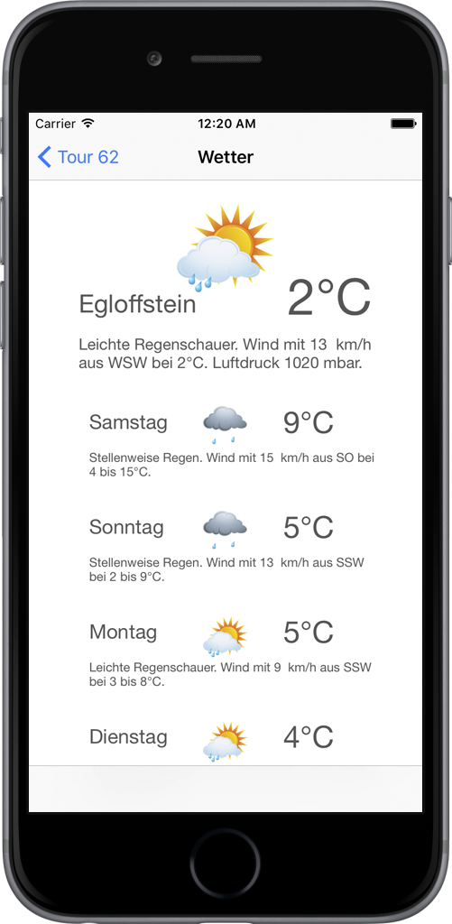 iPhone6 Wetter